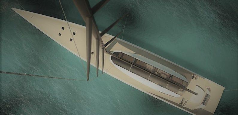 Новый 63-метровый парусный концепт от Ф. Бриана
